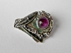 # 4 Amethyst Brooch, silver sample: 950, 6 g